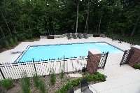 Luxor Deep Fiberglass Pool in Mars Hill, NC